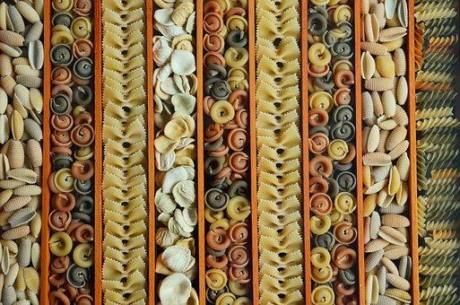 Noodles, Pasta, Colorful Pasta, Food, Eat, Raw, Kitchen
