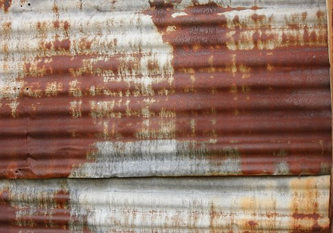 Rusted, Rust, Corrugated, Metal, Texture, Old, Grunge