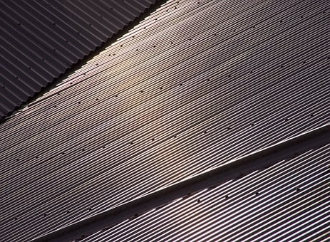 Roof, Corrugated, Steel, Metal, House, Pattern, Lines