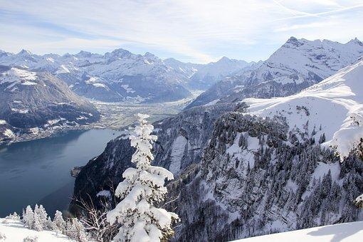 Lake Lucerne Region, Lake, Switzerland, Mountains