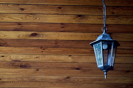 Tree, Lamp, House, Blockhouse, Street Lamp