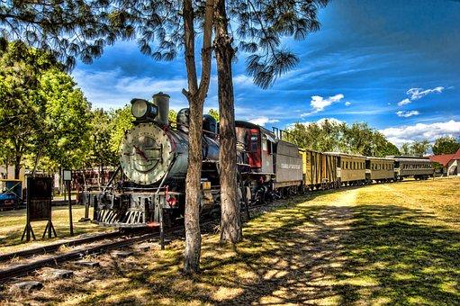 Mexico, Puebla, Train, Railway, Landscape, Places, Blue
