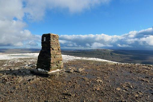 Mountain, Trig Point, Summit, Yorkshire, Walking