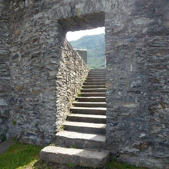 Stairs, Stone Stairs, Staircase, Emergence, Passage