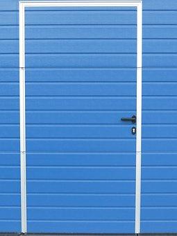 Door, Sheet, Blue, Scale, Hut, Entrance Door