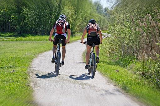 Leisure, Vacations, Sport, Cycling, Cyclists, Together