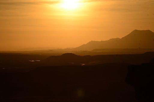 Afghanistan, Landscape, Sun, Sunset, Mountains