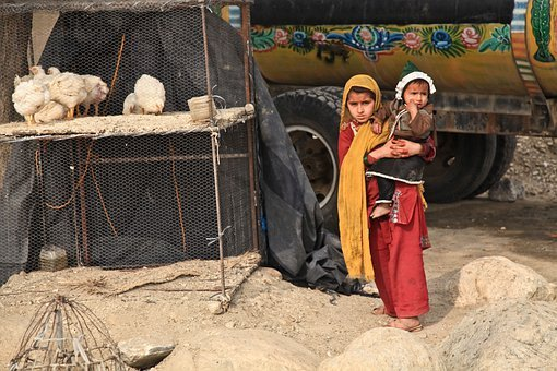 Children, Sisters, Traditional, Garment, Afghanistan