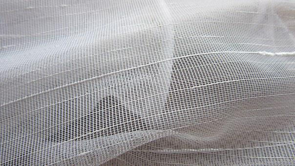 Curtain, Fabric, Tissue, Network, Tender, Transparent