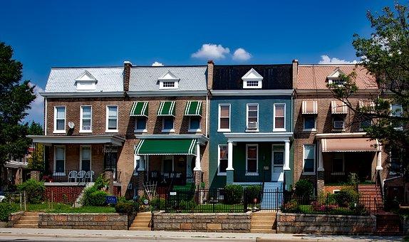 Washington Dc, C, City, Cities, Urban, Row Houses, Old