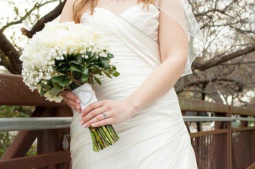Bride, Bouquet, Wedding, White, Woman, Love, Bridal