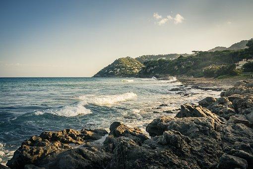 Sea, Beach, Coast, Mallorca, Balearic Islands, Canyamel