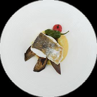 Food, Culinary, Dish, Fish, Vegetables, Eggplant