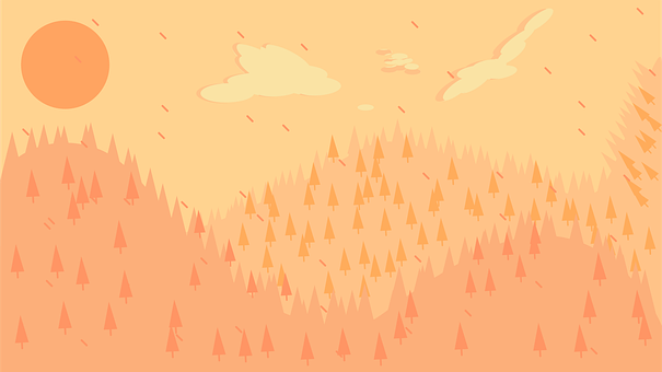Mountains, Sunset, Raining, Forest, Weather, Landscape
