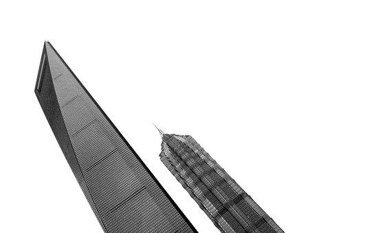 Architecture, Buildings, Skyscrapers, Black And White