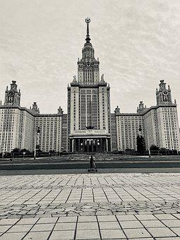 Moscow, Moscow State University, Architecture, Building