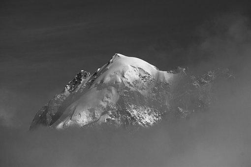 Mountain, Fog, Clouds, Snow, Landscape, Summit