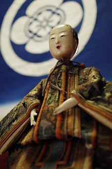 Taisho Samurai Doll, Doll, Antique, Japanese Doll