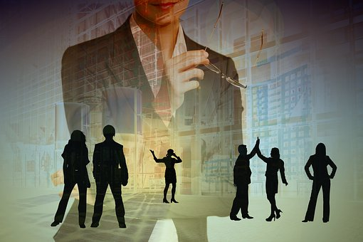 Business People, Group, Team, Abstract, Dialog