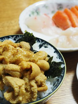 Bowl Of Rice, Sashimi, Home Cooking, Japanese Meal