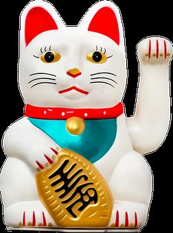 Maneki Neko, Lucky Cat, Figurine, Japanese Figurine