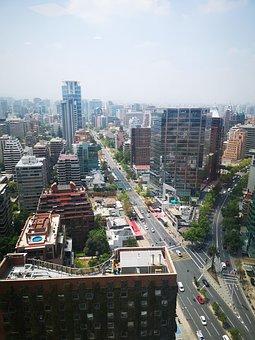 Santiago, Chili, City, Aerial View, Urban, Building