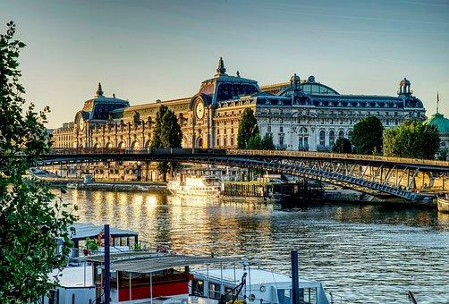 Paris, Bridge, Musée D'orsay, River, Orsay Museum