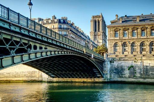 Paris, Bridge, Pont D'arcole, River, Arcole Bridge