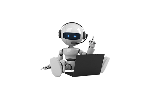 Robot, Humanoid Robot, Laptop, Computer, Headset, Work