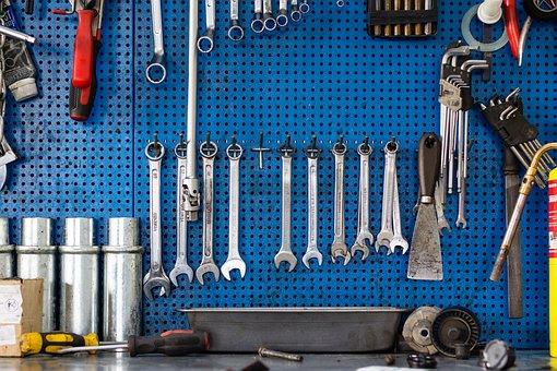 Tools, Garage, Repair, Spanner, Wrench, Metal, Iron