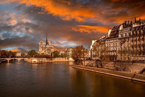 Paris, Notre Dame, River, Church, Historical, Buildings