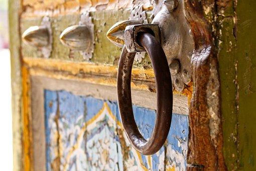 Door, Hinge, Metal, Wood, Old, Antique, Vintage