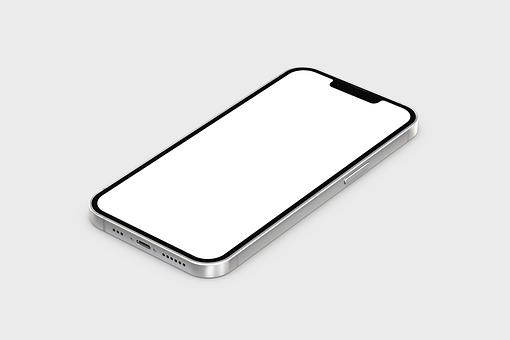 Iphone, Screen, Mockup, Copy Space, Iphone 13