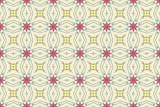 Flower, Wall, Pattern, Retro, Vintage, Texture