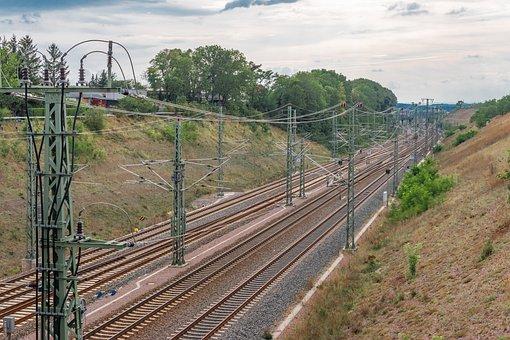 Railroad, Tracks, Train, Rail, To Travel, Erfurt