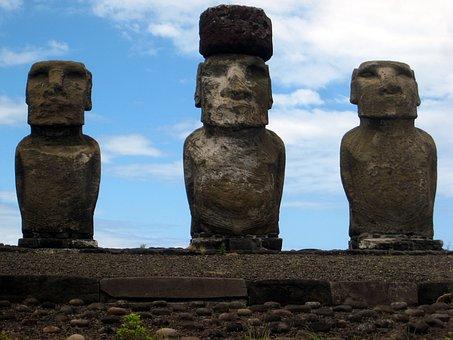 Easter Island, Ahu Tongariki, Stone Figures