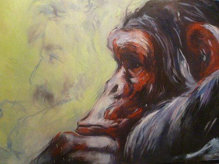 Painting, Animal, Image, Monkey, Hand Drawn Sketch