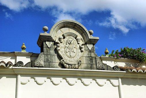 Guatemala, Antigua, Sundial, Pediment, Time, Facade