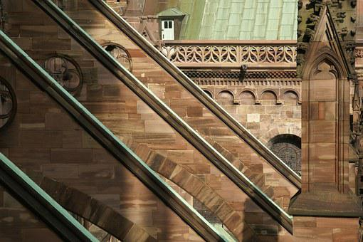 Cathedral, Arches, Strasbourg, Notre, Dame