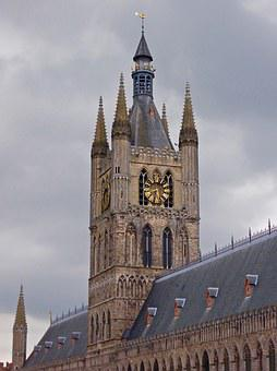 Cathedral Spire, Ypres, Landmark, Belgian, Architecture