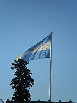 Argentina, Buenos Aires, Flag, Cityscape, Landmark