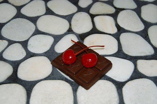 Cherries, Chocolate, Mosaic, River Rock, White, Black