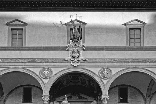 Firenze, Italy, Black White, Europe, Fiore, Travel