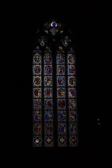 Cologne, Church, Stained Glass, Window, Rhombus