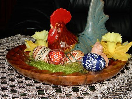 Easter, Spring, Easter Bunny, Chicken, Nest, Easter Egg