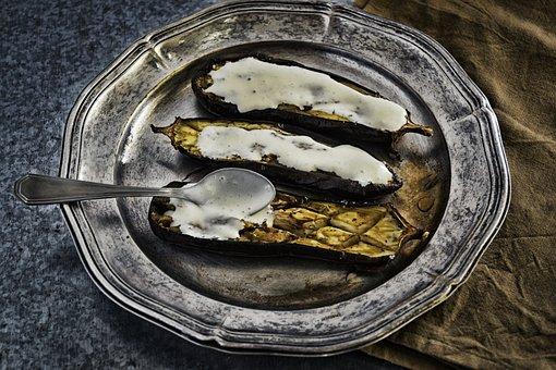 Vegetarian, Grilled Food, Eggplant, Turkish, Aubergine