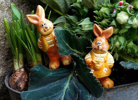 Easter, Rabbit, Decoration, Festival, Daffodils