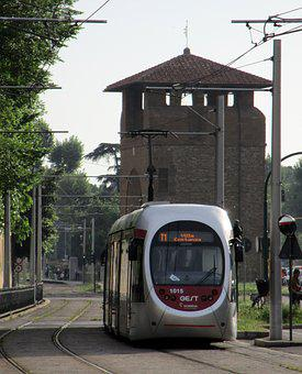 Train, Florence, Door, Tramway, Station