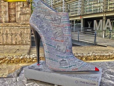 Footwear, Shoe, Statue, Heeled Shoe, High Heels, Shoes