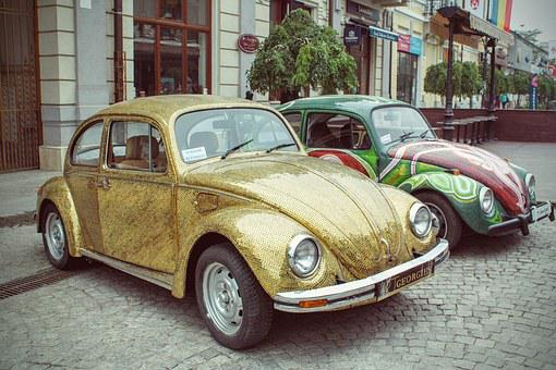 Volkswagen Beetle, Volkswagen Bag, German Car, Two-door